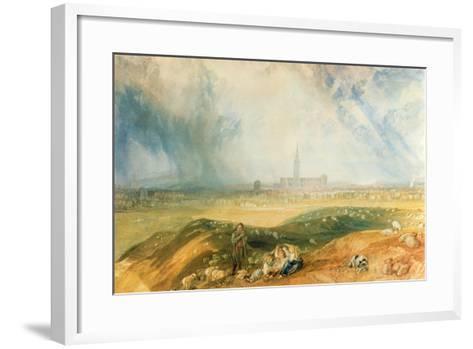 Salisbury Cathedral-J^ M^ W^ Turner-Framed Art Print