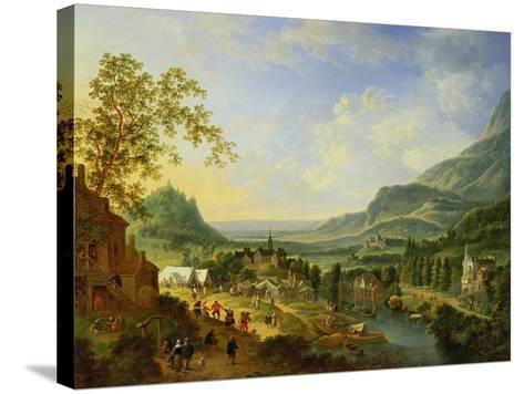 A Village Fete in the Rhine Valley-Jan The Elder Griffier-Stretched Canvas Print