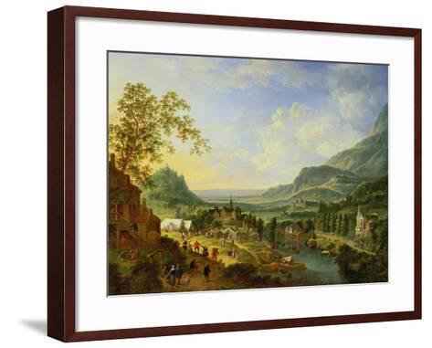 A Village Fete in the Rhine Valley-Jan The Elder Griffier-Framed Art Print