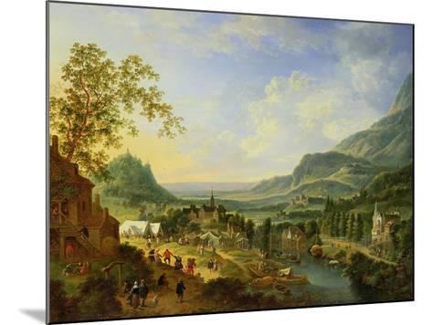 A Village Fete in the Rhine Valley-Jan The Elder Griffier-Mounted Giclee Print