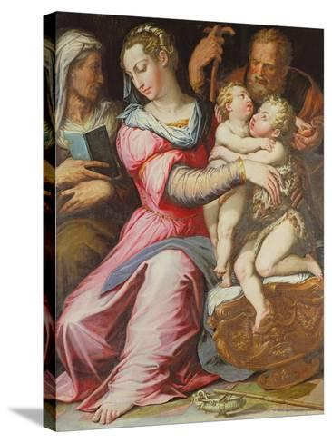The Holy Family with the Infant St. John the Baptist--Stretched Canvas Print