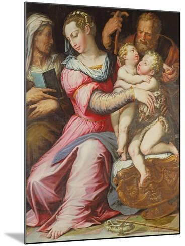The Holy Family with the Infant St. John the Baptist--Mounted Giclee Print