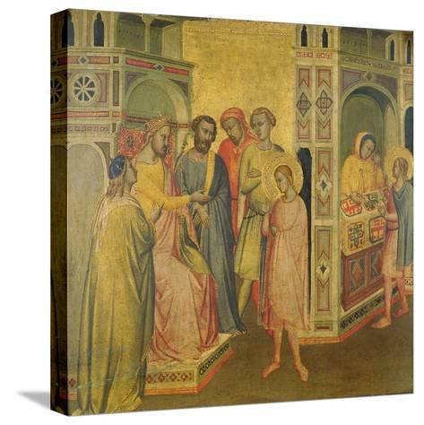 St. Eligius before King Clothar, C.1365-Taddeo Gaddi-Stretched Canvas Print
