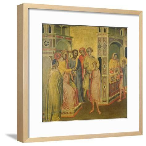 St. Eligius before King Clothar, C.1365-Taddeo Gaddi-Framed Art Print