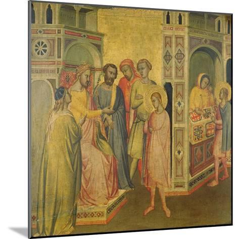 St. Eligius before King Clothar, C.1365-Taddeo Gaddi-Mounted Giclee Print