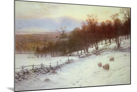 Snow Covered Fields with Sheep-Joseph Farquharson-Mounted Giclee Print