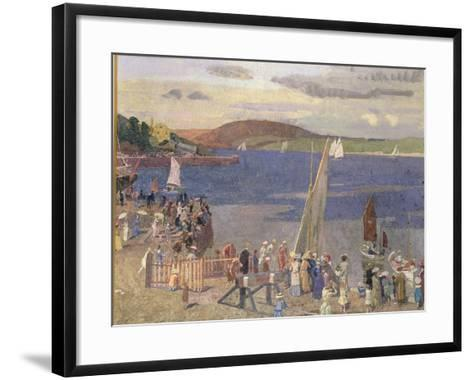 Padstow Regatta-Alfred Walter Bayes-Framed Art Print