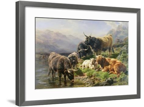 Highland Cattle-William Watson-Framed Art Print