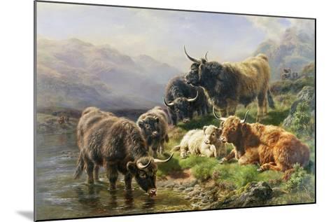 Highland Cattle-William Watson-Mounted Giclee Print