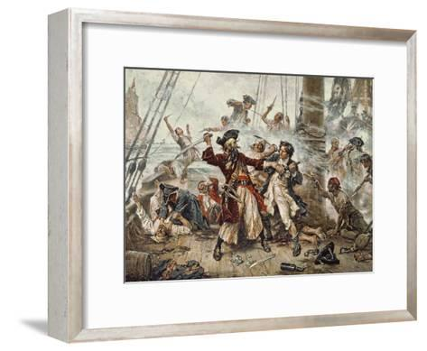 The Capture Of The Pirate Blackbeard 1718 Giclee Print By Jean Leon
