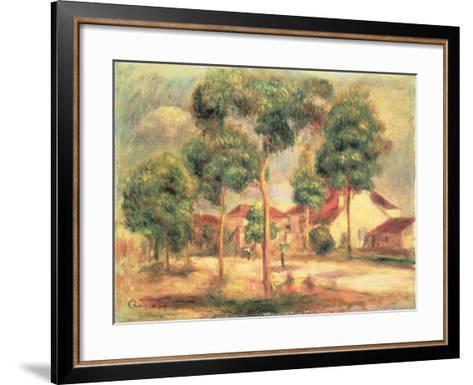 The Sunny Road, C.1895-Pierre-Auguste Renoir-Framed Art Print