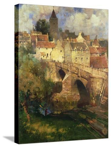 A Village in East Linton, Haddington-James Paterson-Stretched Canvas Print