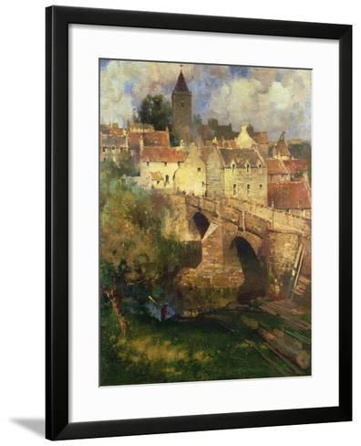 A Village in East Linton, Haddington-James Paterson-Framed Art Print