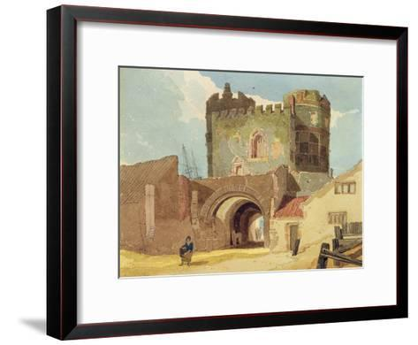 The South Gate, Great Yarmouth, Norfolk-John Sell Cotman-Framed Art Print