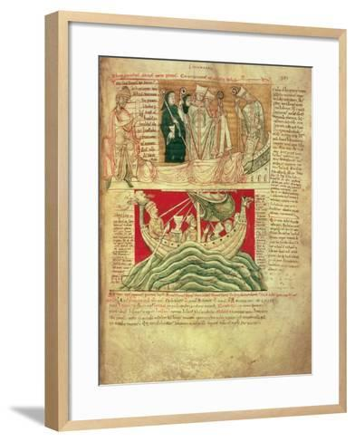 Ms Ccc 157 P.383 the Visions Dreamt by King Henry I in Normandy in 1130, from the Worcester…--Framed Art Print