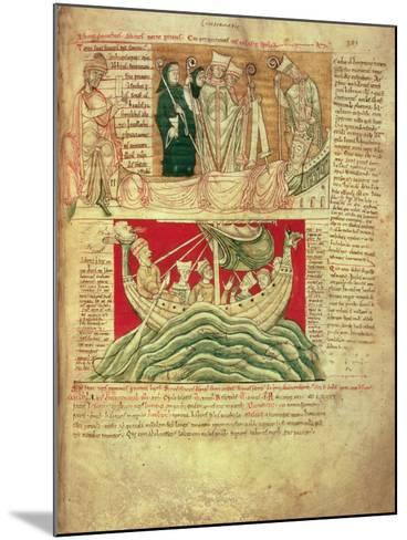 Ms Ccc 157 P.383 the Visions Dreamt by King Henry I in Normandy in 1130, from the Worcester…--Mounted Giclee Print