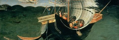 St. Nicholas Rebuking the Tempest-Bicci di Lorenzo-Stretched Canvas Print