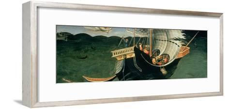 St. Nicholas Rebuking the Tempest-Bicci di Lorenzo-Framed Art Print