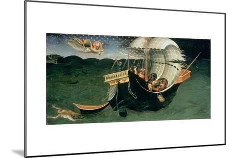 St. Nicholas Rebuking the Tempest-Bicci di Lorenzo-Mounted Giclee Print