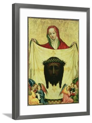 St. Veronica with the Shroud of Christ, C.1420- Master of the Munich St. Veronica-Framed Art Print