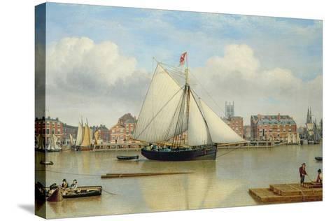 Hull from the Humber, C.1837-John Ward-Stretched Canvas Print