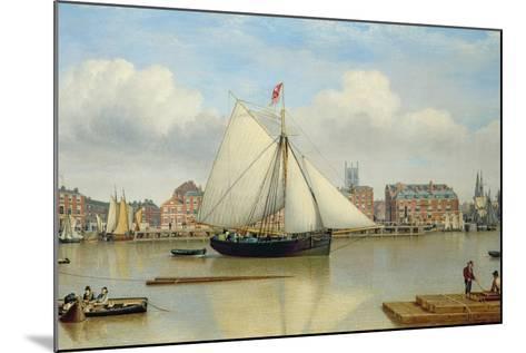 Hull from the Humber, C.1837-John Ward-Mounted Giclee Print