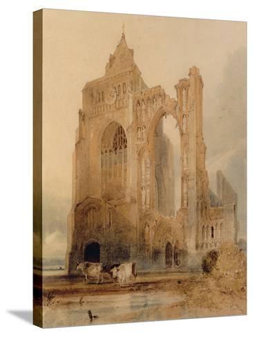 Croyland Abbey, Crowland-John Sell Cotman-Stretched Canvas Print