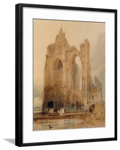 Croyland Abbey, Crowland-John Sell Cotman-Framed Art Print