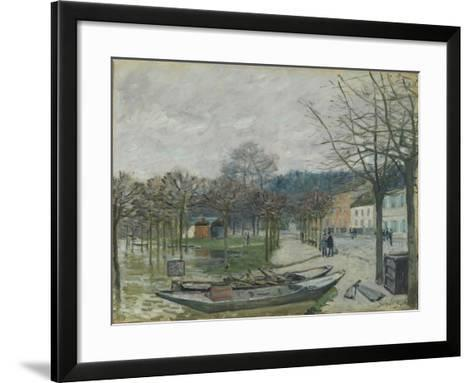The Flood at Port-Marly, 1876-Alfred Sisley-Framed Art Print