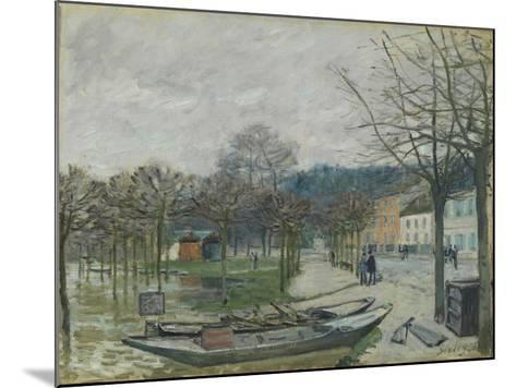 The Flood at Port-Marly, 1876-Alfred Sisley-Mounted Giclee Print
