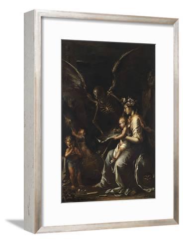 Human Frailty, C.1656-Salvator Rosa-Framed Art Print
