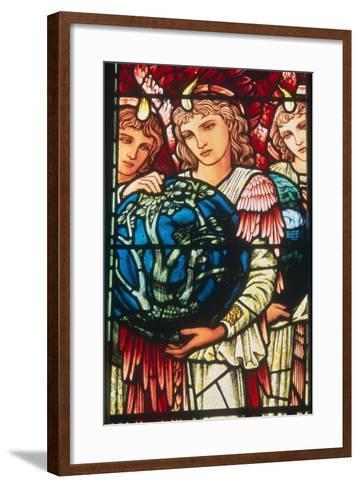 Angels of Creation: the Third Day, C.1890-Edward Burne-Jones-Framed Art Print