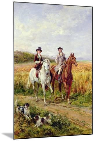 Couple Riding with their Dogs-Heywood Hardy-Mounted Giclee Print