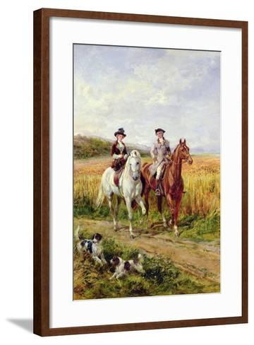 Couple Riding with their Dogs-Heywood Hardy-Framed Art Print