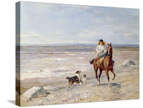 Pony Ride on the Beach-Heywood Hardy-Stretched Canvas Print
