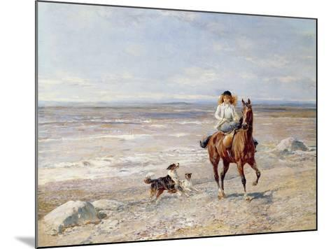 Pony Ride on the Beach-Heywood Hardy-Mounted Giclee Print
