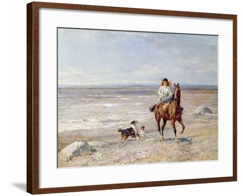 Pony Ride on the Beach-Heywood Hardy-Framed Art Print