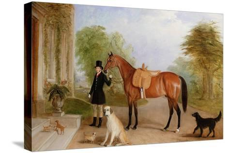A Groom with a Horse-John E^ Ferneley-Stretched Canvas Print