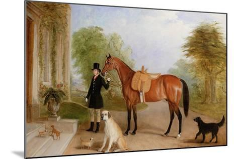 A Groom with a Horse-John E^ Ferneley-Mounted Giclee Print