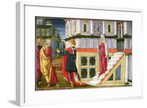 Simon Magus Offering St. Peter Money, 1470-75- Liberale Da Verona-Framed Art Print