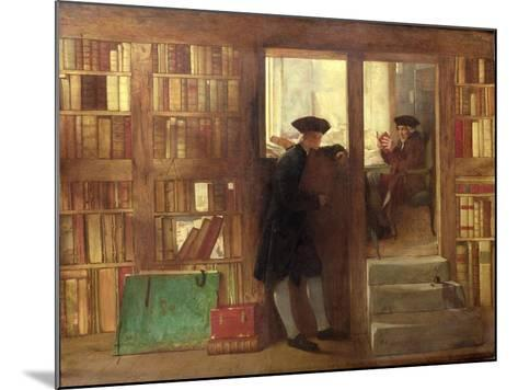 The Bibliophilist's Haunt or Creech's Bookshop-William Fettes Douglas-Mounted Giclee Print
