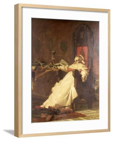 Death of Pope Boniface VIII (1235-1303)-Nicholo Barabino-Framed Art Print