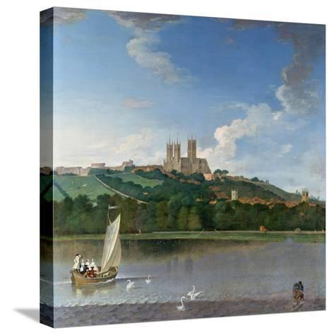 Lincoln from the Brayford Pool-Joseph Baker-Stretched Canvas Print