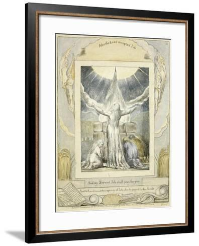 Job Praying (Pl.18) from the Book of Job, C.1793-William Blake-Framed Art Print