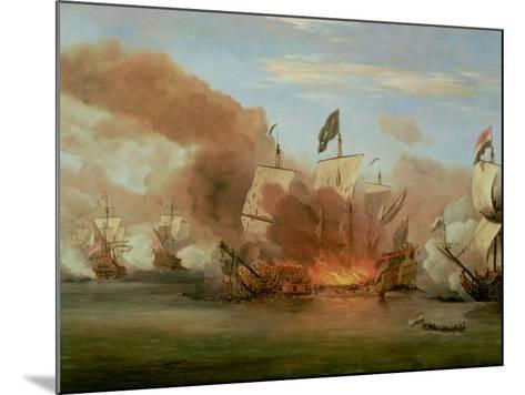 "The Burning of ""The Royal James"" at the Battle of Sole Bank, 6th June 1672-Willem Van De, The Younger Velde-Mounted Giclee Print"