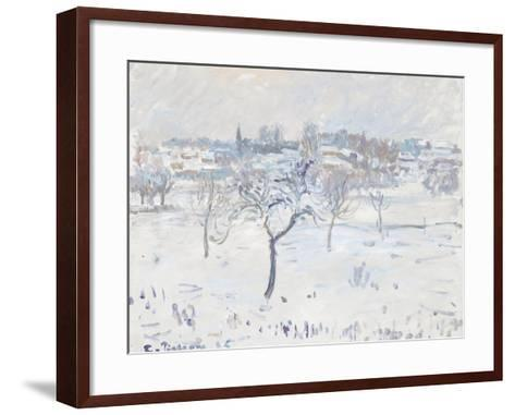 Snowy Landscape at Eragny with an Apple Tree, 1895-Camille Pissarro-Framed Art Print