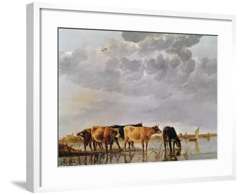 Cows in a River, C.1650-Aelbert Cuyp-Framed Art Print