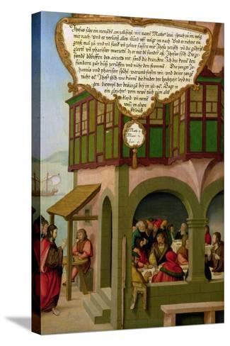 Jesus Eating with the Taxpayers and Sinners (Matthew 9, Mark 2, Luke 5) Section of Wing Panel…-Matthias Gerung or Gerou-Stretched Canvas Print