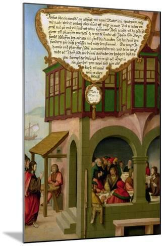 Jesus Eating with the Taxpayers and Sinners (Matthew 9, Mark 2, Luke 5) Section of Wing Panel…-Matthias Gerung or Gerou-Mounted Giclee Print