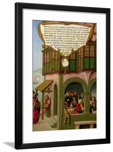 Jesus Eating with the Taxpayers and Sinners (Matthew 9, Mark 2, Luke 5) Section of Wing Panel…-Matthias Gerung or Gerou-Framed Art Print